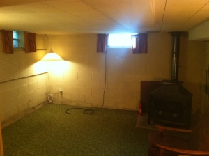 This was a creepy, classic, spider-infested basement room after I cleaned it out.