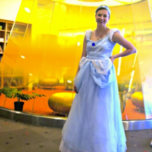 Visiting kids in the hospital as Cinderella on my 7th anniversary as a hospital volunteer. Instagram: MDPhDToBe, June 26, 2014