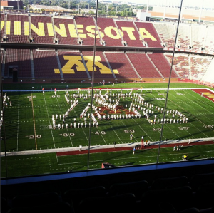 Minnesota Marching Band Instagram: MDPhDToBe, September 27, 2013