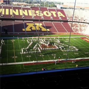 Minnesota Marching Band Instagram: MDPhDToBe, September 27, 2013